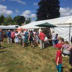 Llansadwrn Big Lunch 2018 gathering the crowds