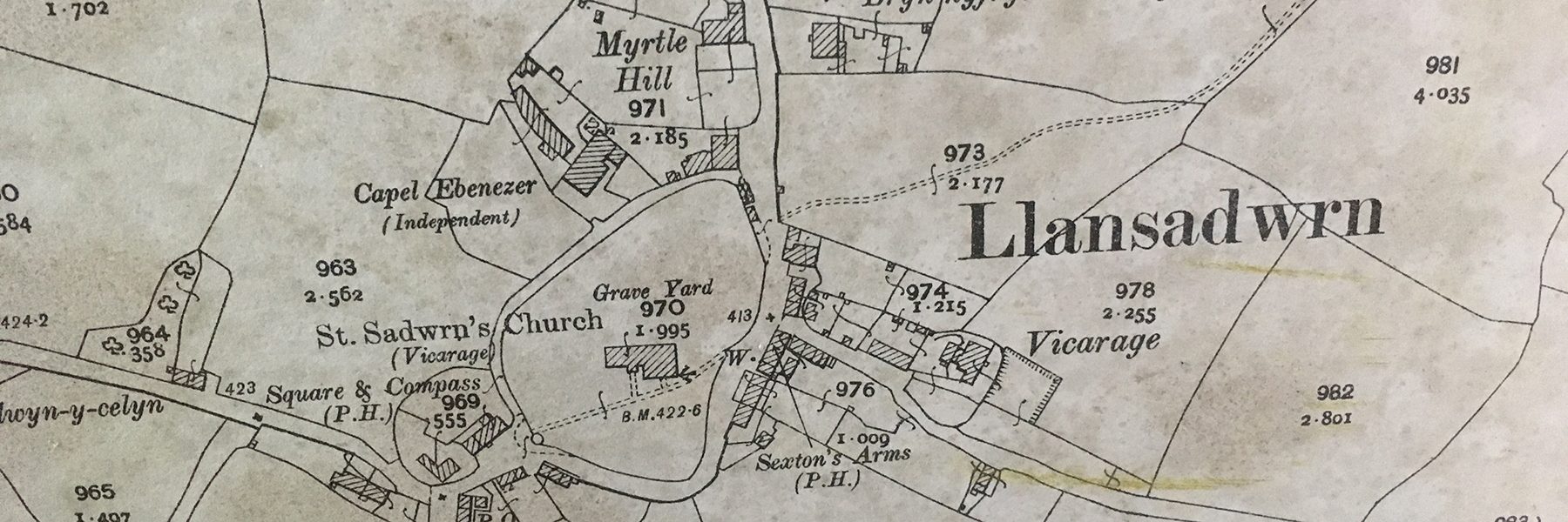 Llansadwrn old map