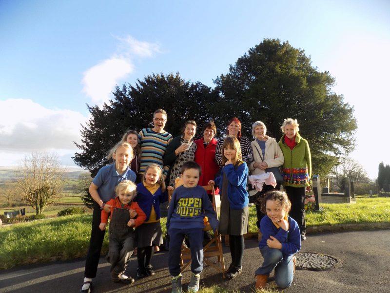 The Vestry Venture group outside in sunny Llansadwrn