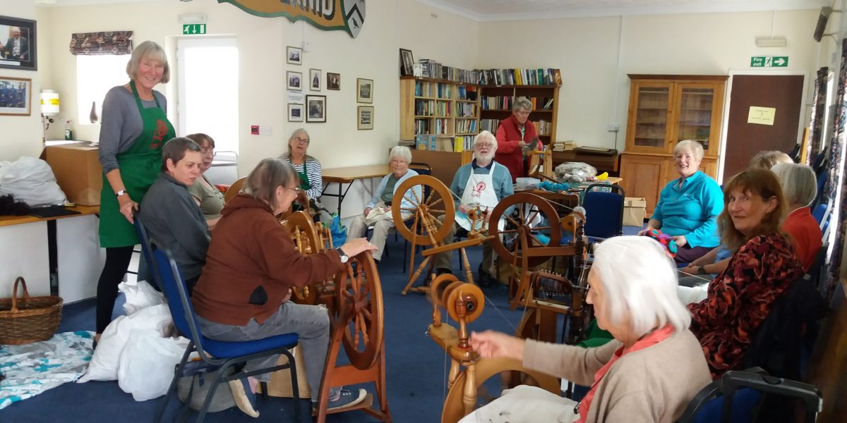 Spinners and Weavers in Llansadwrn Reading Room