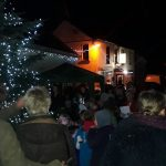 Christmas tree lighting Llansadwrn