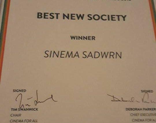Sinema Sadwrn award