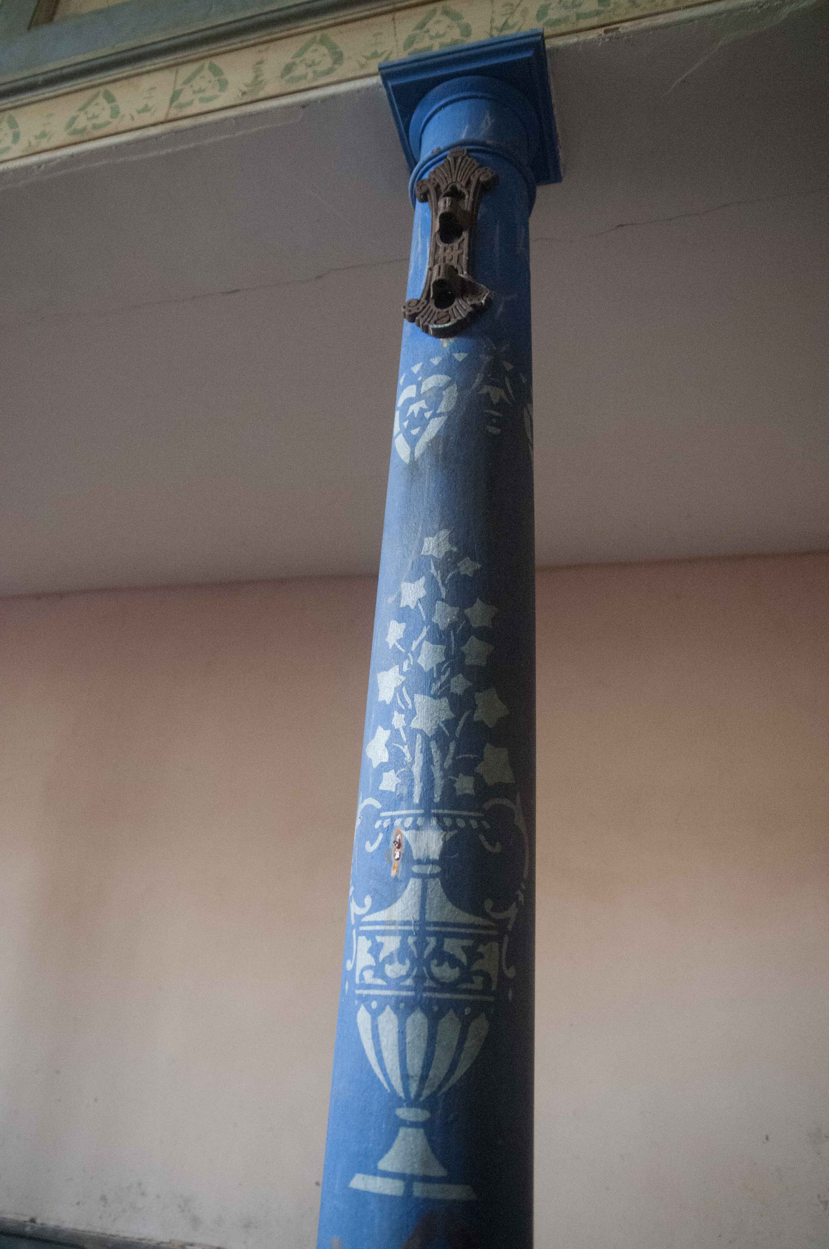 Pillar-in-Libanus-Chapel-from-side-Llansadwrn