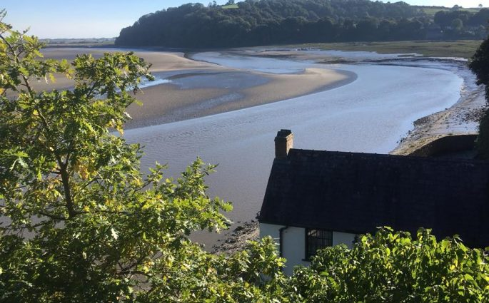 Dylan Thomas's Boathouse and Laugharne Castle