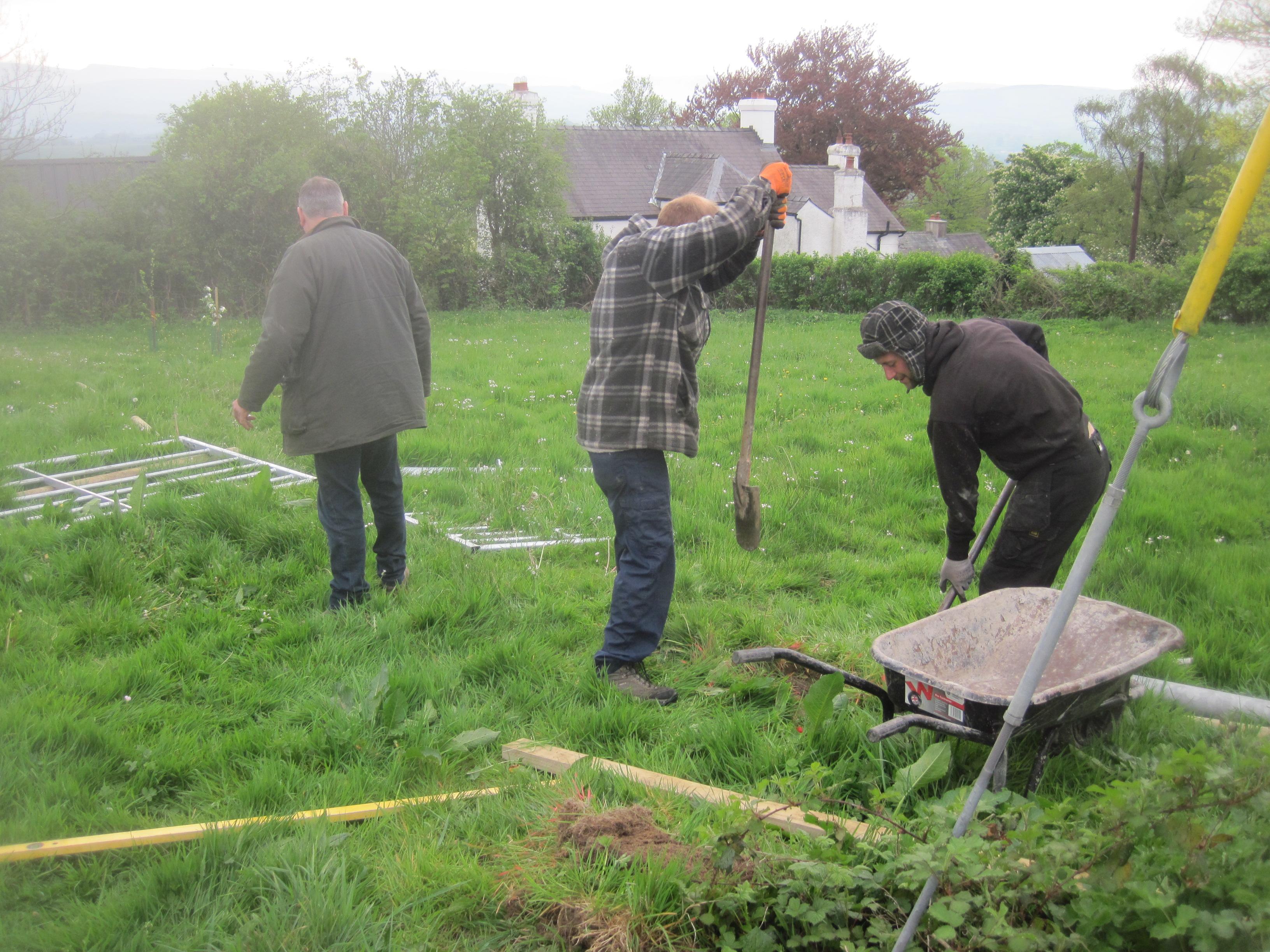 Fencing at Gardd Gymunedol Llansadwrn Community Garden (1)
