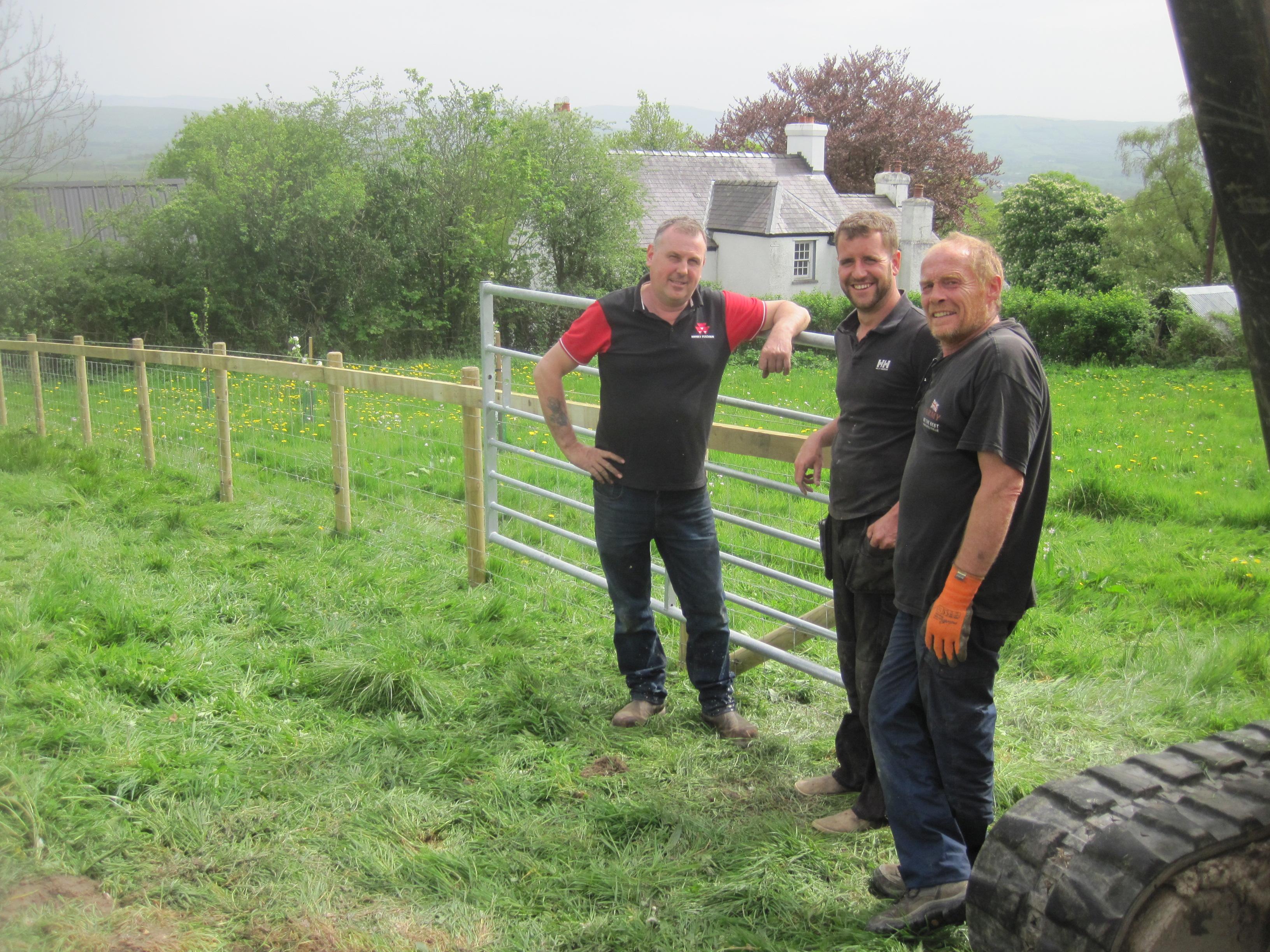 Fencing at Gardd Gymunedol Llansadwrn Community Garden (3)