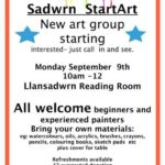 Art Sadwrn - a poster explaining the art group
