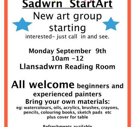 Art Sadwrn - a poster explaining the art group