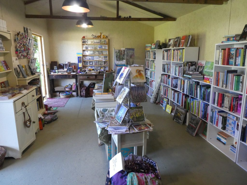 Inside the book shop at the Dragons Garden